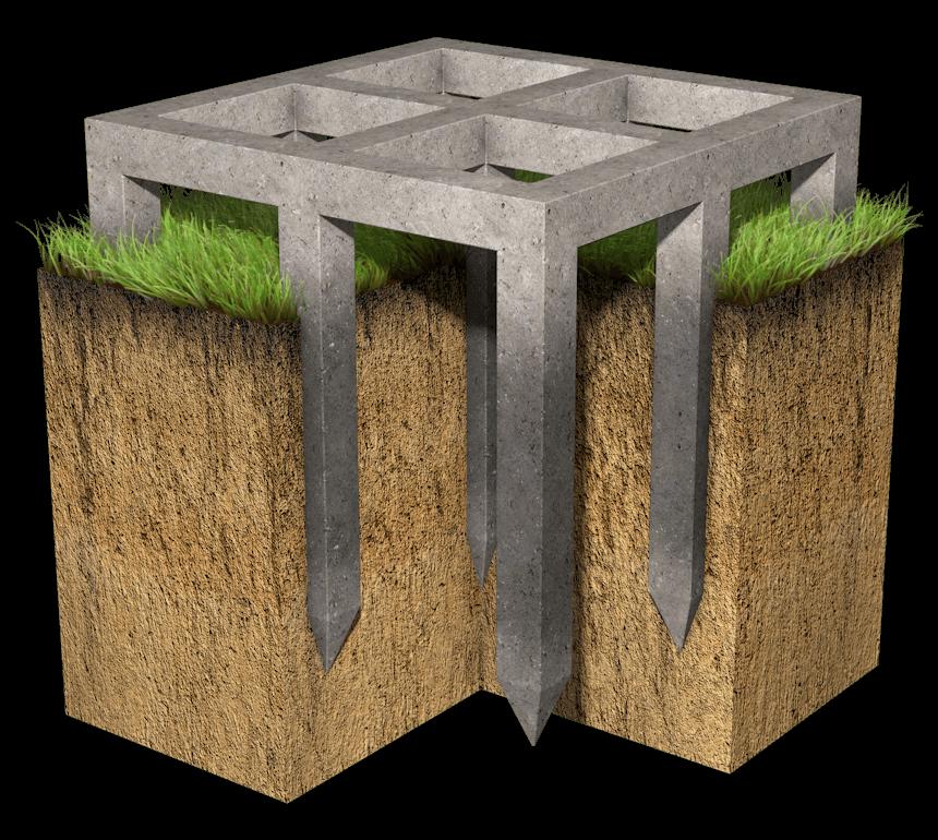 Фундамент на жби сваях как поднимают плиту перекрытия